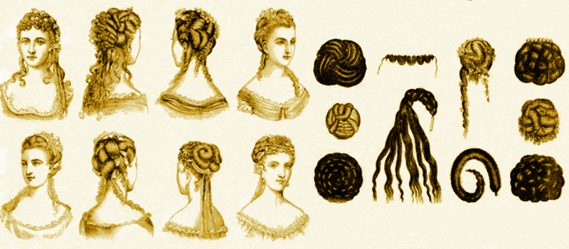 Assorted-Victorian-hair-pieces