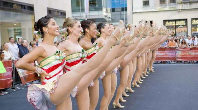Rockettes 2009 Natal Em Agosto Today Show Kick Line