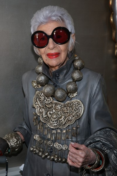 VIOLET GREY Honors Iris Apfel At A She's So Violet Garden Tea