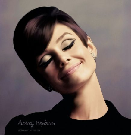 audrey hepburn make cut crease