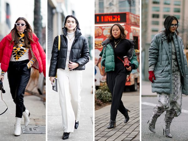 street style NYFW Inverno 2019 - puff jacket